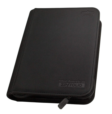Ultimate Guard Mini American 9-Pocket XenoSkin ZipFolio (Black)