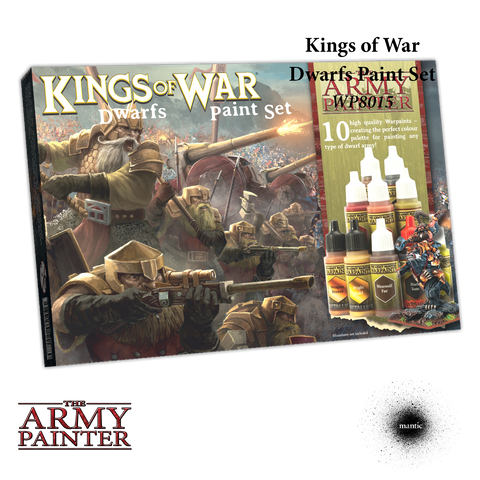 Kings Of War Dwarfs Paint Set