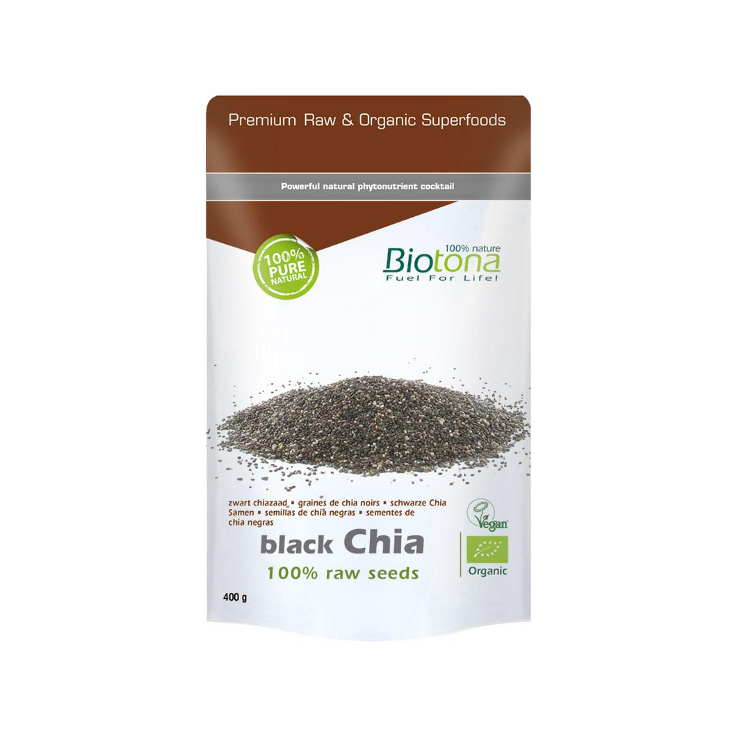 Chia, graines noirs -100% raw seeds — 400 g