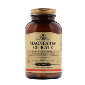 Magnésium Citrate - Facilement assimilable - 120 gélules
