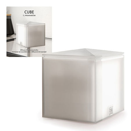 Cube, Diffuseur Ultrasonique blanc