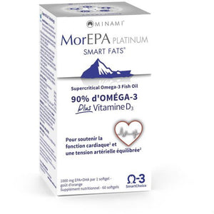 MorEPA Smart Fats Platinum + Vitamine D3 - 60 capsules