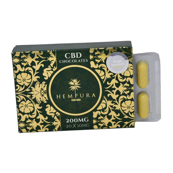 Hempura 200mg Broad-Spectrum CBD White Chocolates (20) - OIKOSPIRAL