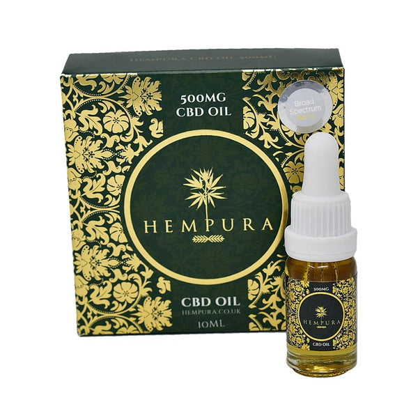 Hempura 500mg (5.0%) Broad-Spectrum CBD Oil (10ml) - OIKOSPIRAL