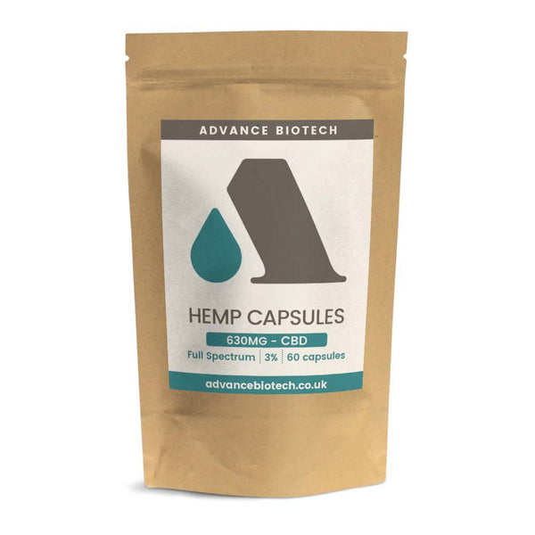Hemp Capsules 150mg / 5.25mg CBD (1.5%) Infused with Turmeric and Black Pepper - OIKOSPIRAL