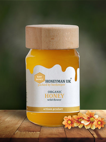 Organic Wild Flower Honey - 420g Jar - OIKOSPIRAL