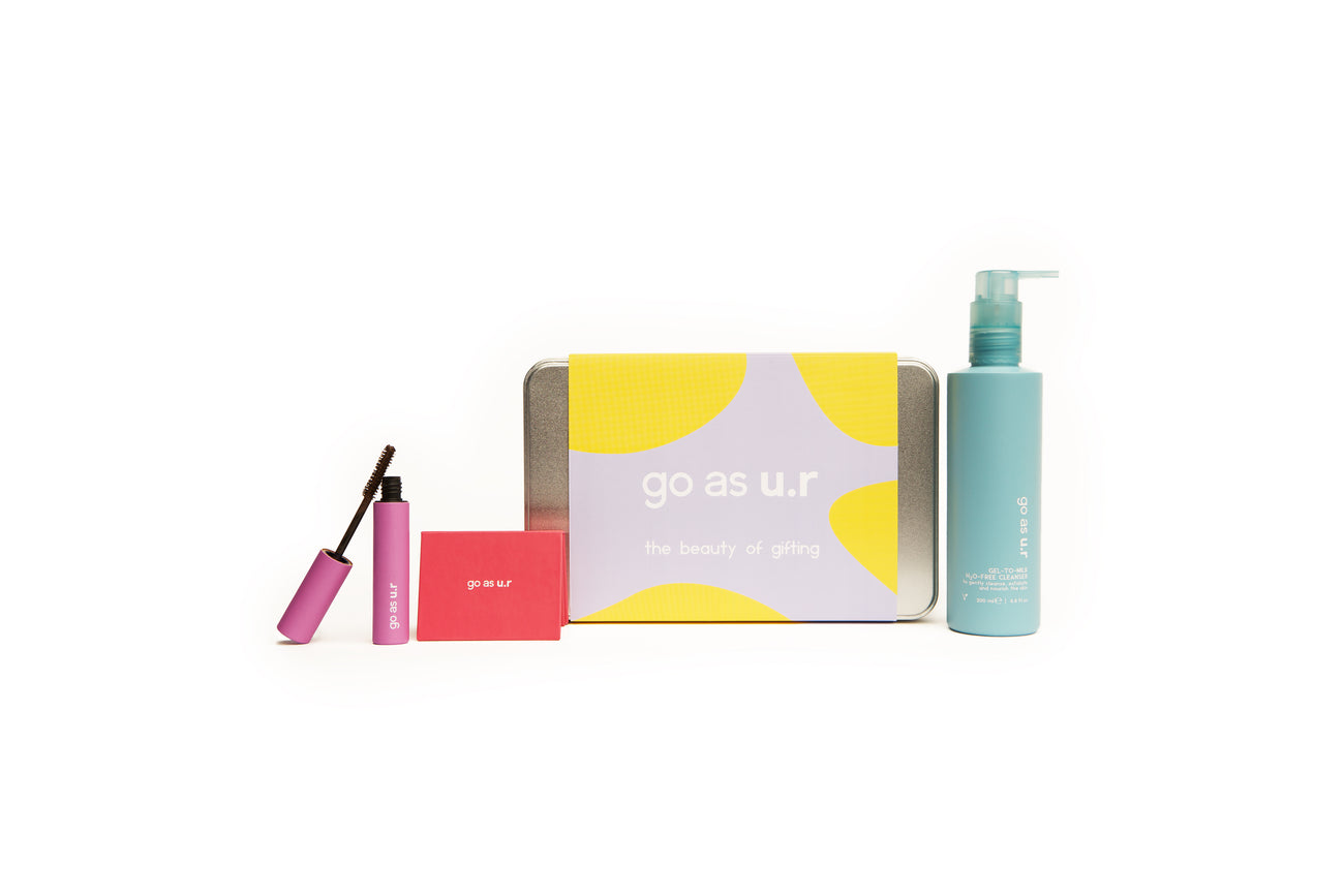 Big gift box | H2O free cleanser, bold blush & lengthening mascara