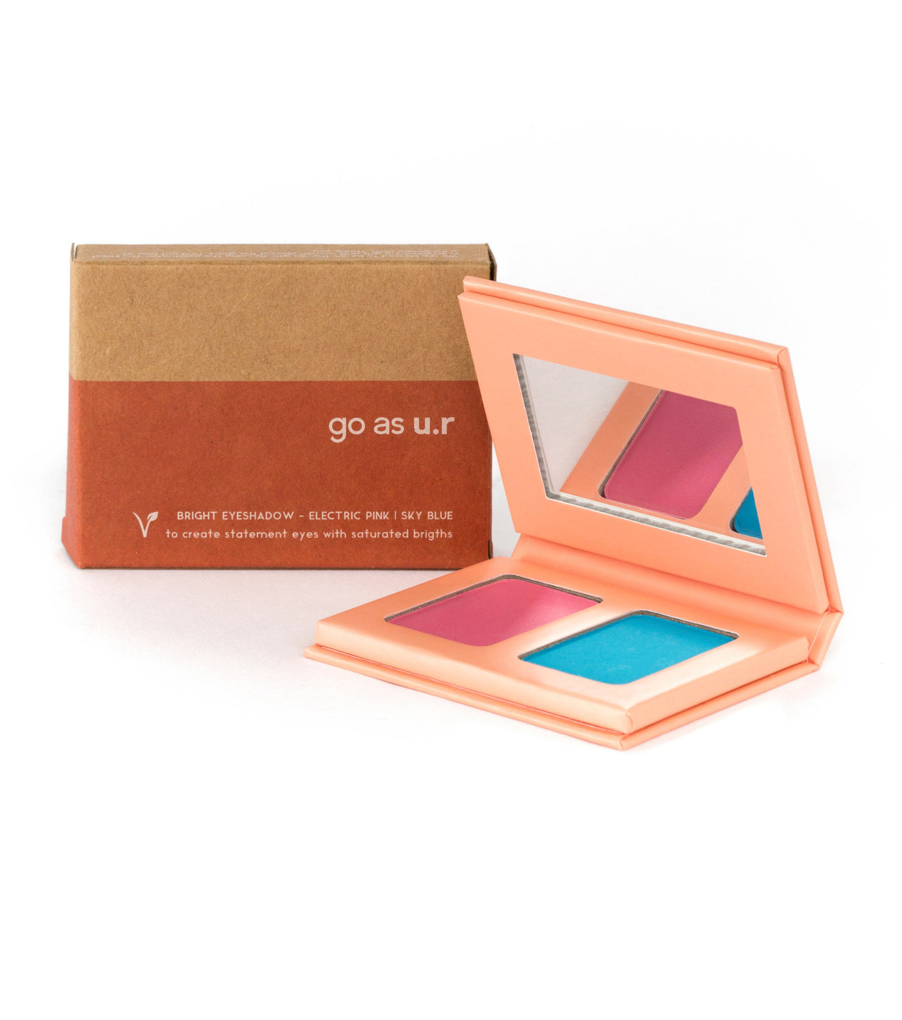 bright eyeshadow | electric pink - sky blue