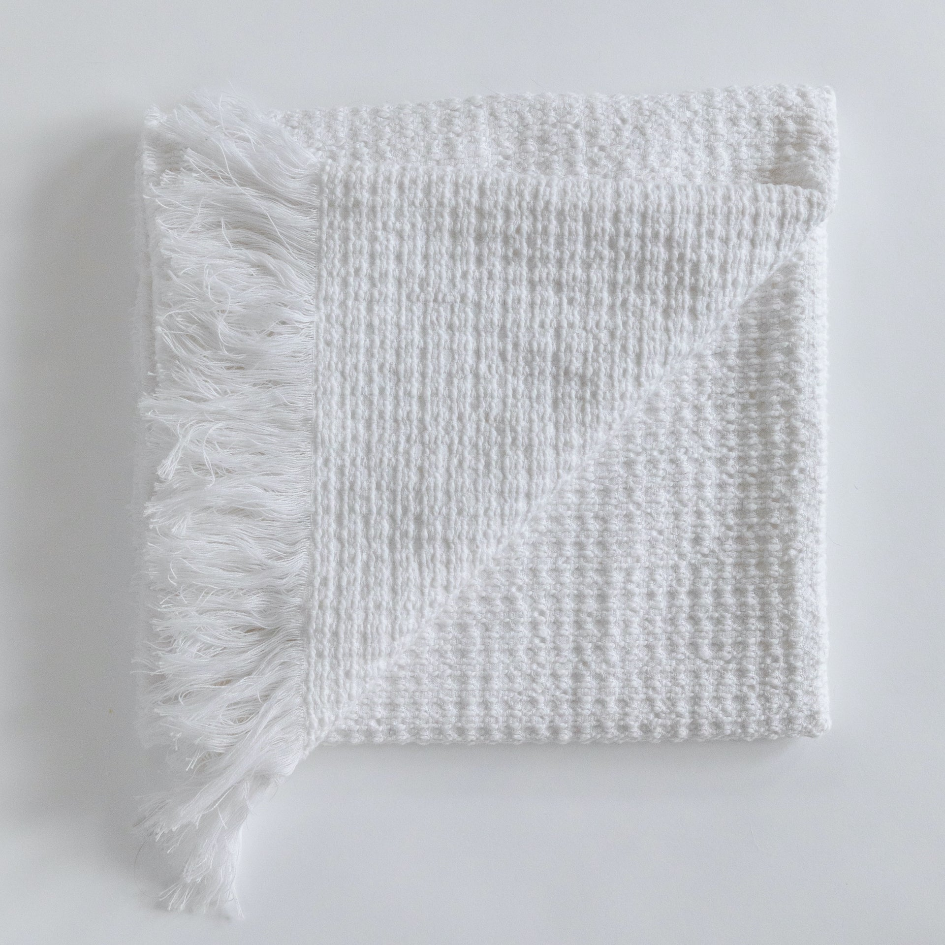 Organic cotton white shawl blanket