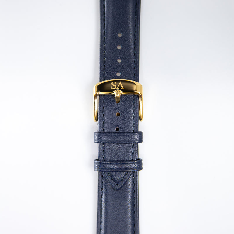 Navy | Gold buckle