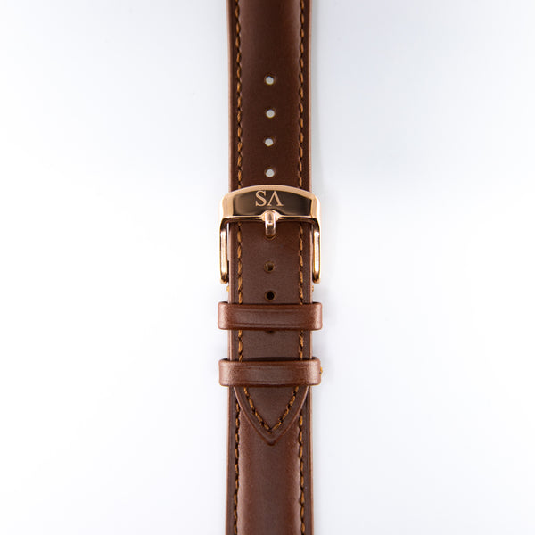 Brown | Rose buckle