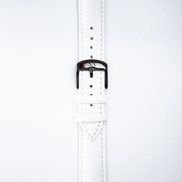 White | Black buckle