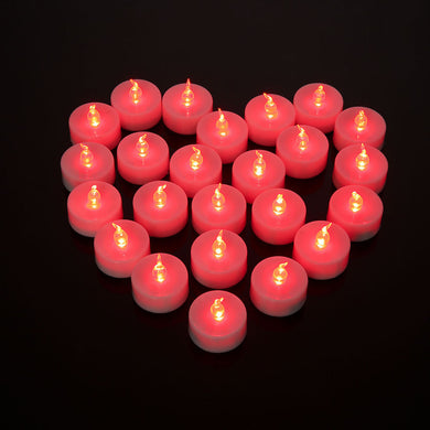 High Quality 24pcs/lot Flameless LED Candle Electronic Wax Candles Lamp Red Flashing Tealight Bougies For Wedding Birthday Party