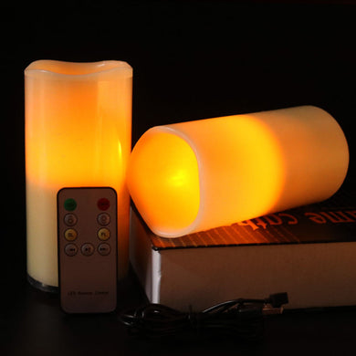 Multifunction Flameless LED Novel Candle With Bluetooth Remote Control Wax Pillar Bougie For Wedding Christmas Party Phone Music