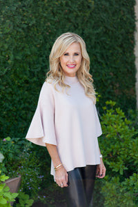 Gracie Sweater- Blush - LARGE ONLY