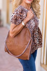 Stella Hobo Bag- Brown