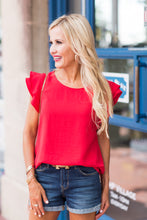 Addison Top- Red