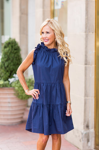 Nellie Dress- Navy