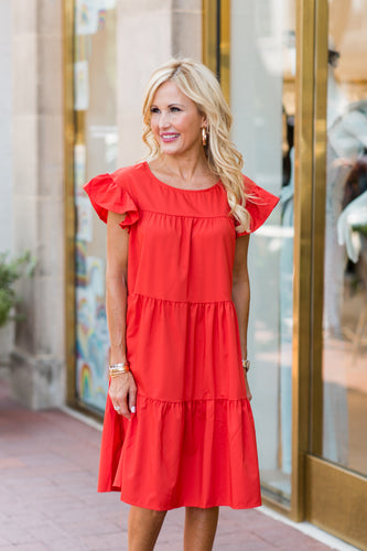 Georgia Dress- Red
