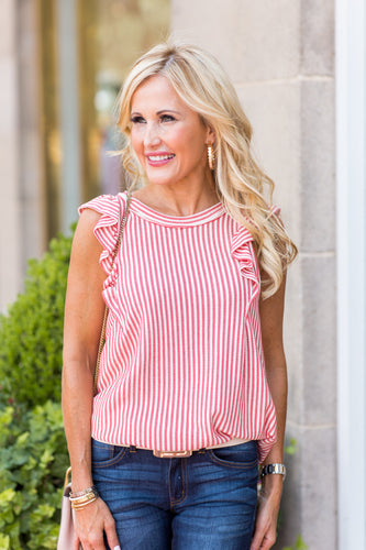 Audrey Top- Red