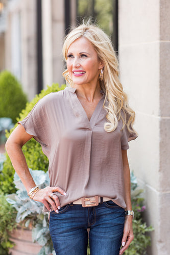 Savannah Top- Brown
