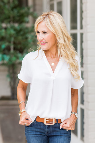 Savannah Top- White