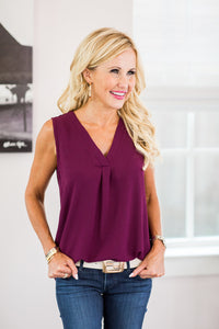 Diane Top- Plum