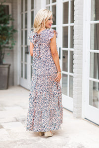 Lara Dress- Melon Leopard