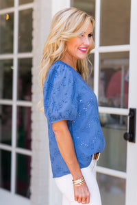 Lanell Top- Blue