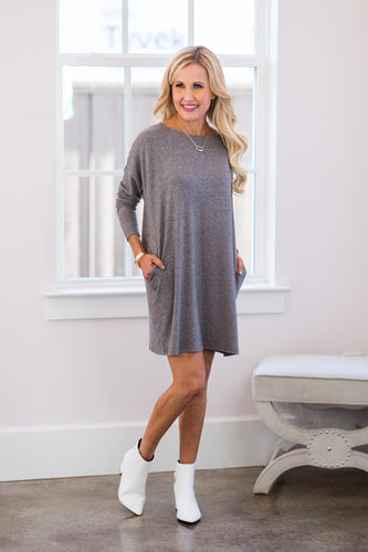 Julianne Dress- Charcoal