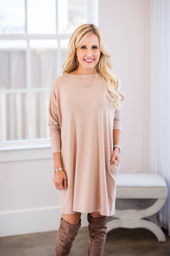 Julianne Dress-Taupe