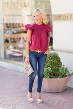 Clare Top- Burgundy