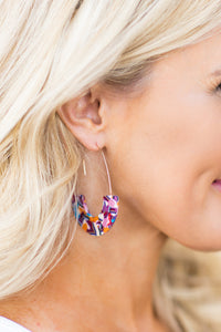 Tamala Acrylic Earrings- Multi