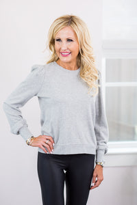 Zoe Sweatshirt- Heather Gray