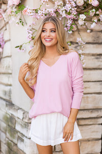 Gemma Sweater- Light Pink