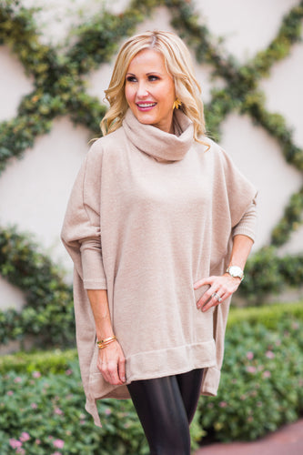 Christy Top- Taupe