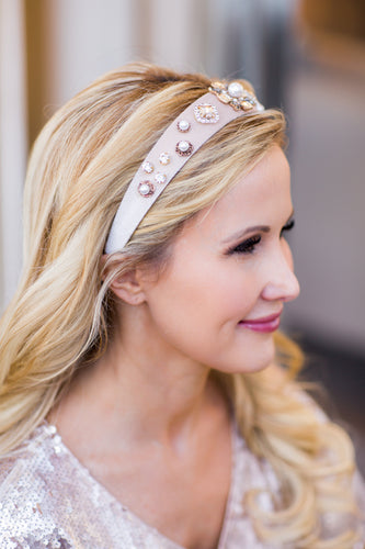 Blair Headband- Nude