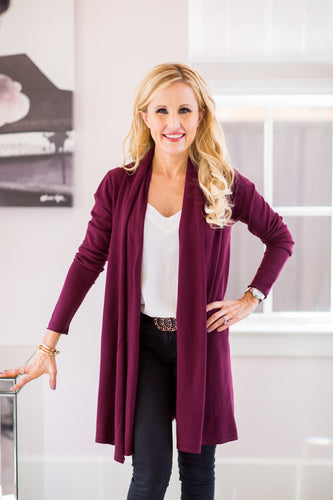 Tammy Cardigan- Plum