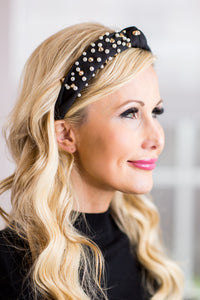 Blair Studded Headband- Black