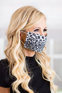 Mira Face Mask- Gray Leopard