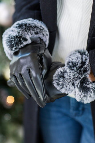 Babs Gloves w Faux Fur