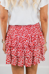Tawny Skirt- Red