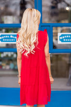 Lorraine Dress- Red