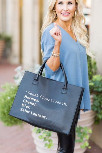 Fluent French Tote- Black
