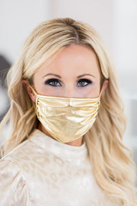 RHOBH Face Mask- Metallic Gold
