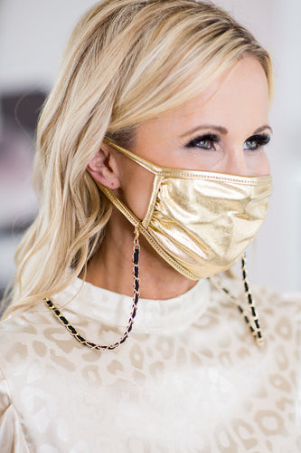 Manning Mask Necklace- Black