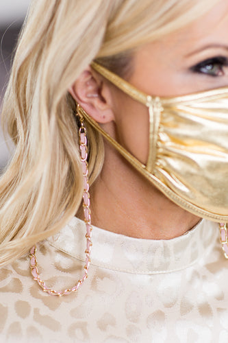 Manning Mask Necklace- Blush