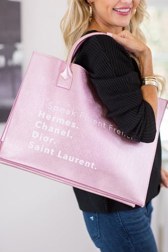 Fluent French Tote- Pink