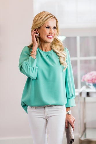 Blakley Top- Mint
