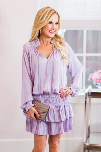 Evelyn Dress- Lavender